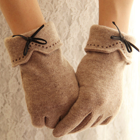 Fashion Elegant Female Wool Touch Screen Cashmere Gloves