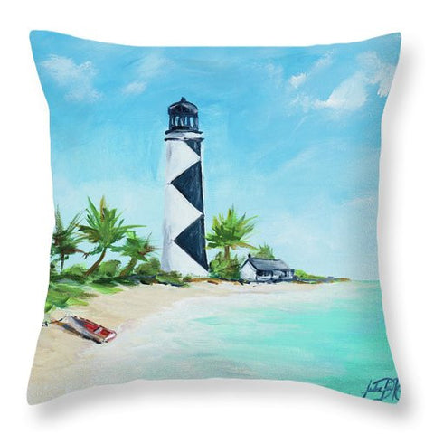 The Lighthouses Iv Throw Pillow