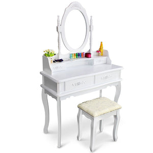 Vanity Desk With Mirror Bedroom Makeup Table For Girls Storage Modern Furniture