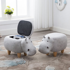 Rushed No New Pouf Poire Taburetes Chair Wood Stools Shoes Hippo dinosaur Designer Furniture Sofa Storage Containing Modern