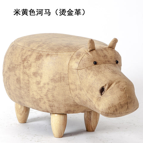 2018 Rushed No New Pouf Poire Taburetes Chair Wood Stools Shoes Hippo dinosaur Designer Furniture Sofa Storage Containing Modern