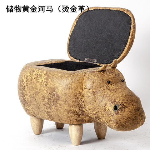 ... Image Of 2018 Rushed No New Pouf Poire Taburetes Chair Wood Stools  Shoes Hippo Dinosaur Designer ...
