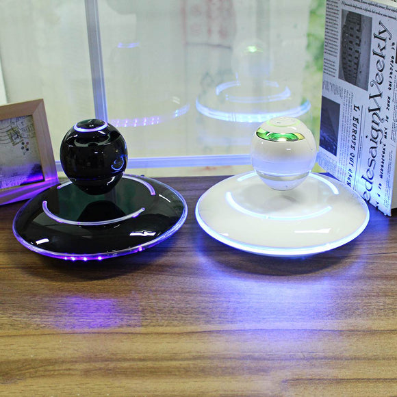 Wireless Levitation Floating Globe Bluetooth Speaker 360 Degree Rotation Subwoofer Bass Radio Stereo Player LED Night Light