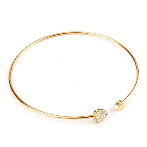 Crystal Heart Love Bangle