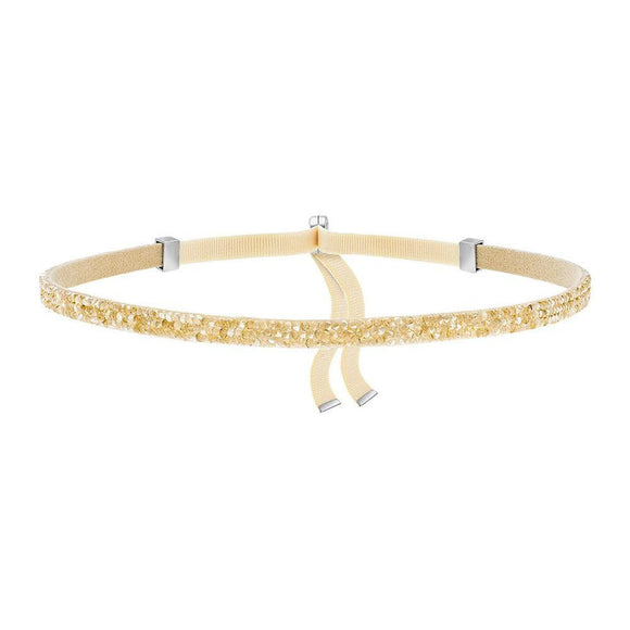 Made with Swarovski Crystal Choker Necklace Gold