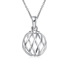 Intertwined Ball Necklace in 18K White Gold Plated
