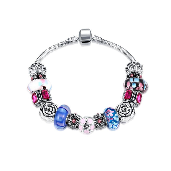 American Love Pandora Inspired Bracelet Made with Swarovski Elements