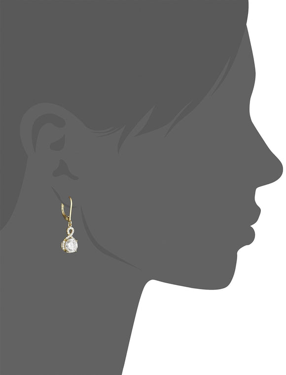 Swarovski Infinity Crystal Drop Earrings Gold