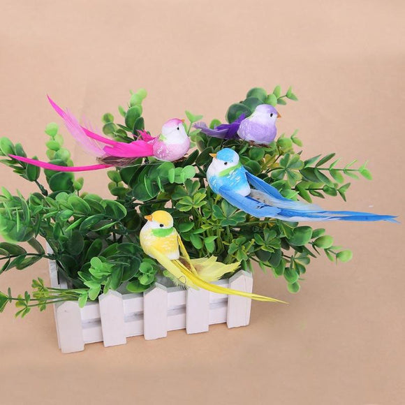 4pcs Simulation bird Artificial 3D Foam Feather Bird DIY Party Crafts Ornament Props Home Garden Decor wedding Decoration