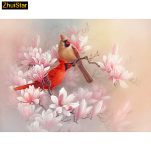 "5D Diy diamond painting cross stitch ""Two Beauty Birds"" Full Square stone Diamond embroidery Needlework Rhinestone Mosaic Crafts"
