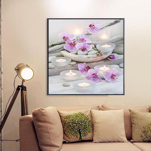 Beautiful Flower Pattern Picture 5D DIY Diamond Painting Cross Stitch Kit Embroidery Mosaic Hot Sale