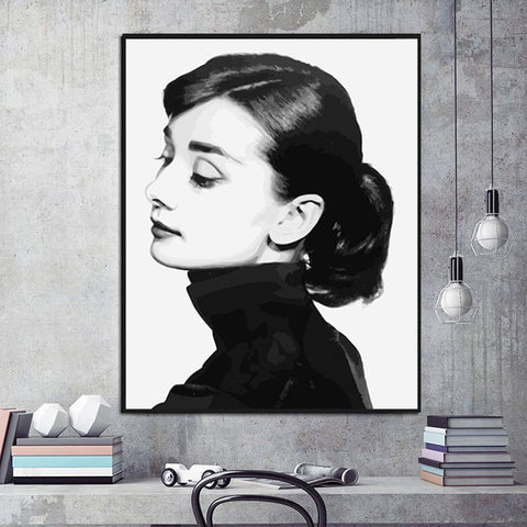 Wall Art Picture DIY Painting Handpainted Canvas Beauty Women Paint Home 40x50cm Hogard