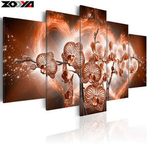 full square drill Diamond embroidery beautiful orchid 5D DIY diamond painting Cross Stitch Multi-picture decoration