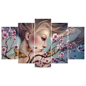 5D DIY Diamond embroidery beauty&butterfly diamond painting Cross Stitch full drill Rhinestone mosaic home decoration
