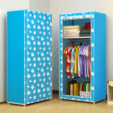 153x59x43cm Modern Simple Wardrobe Household Fabric Folding Cloth Ward Storage Assembly King Size Reinforcement Combination