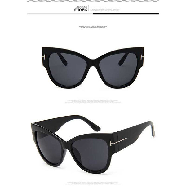 Trendy Retro Female Sunglass Classic T Glasses