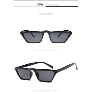 Sunglasses Women Men Retro Black Cat Eye Small Frame