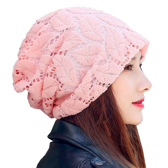 Turban Hat Lace Beanies For Ladies Women
