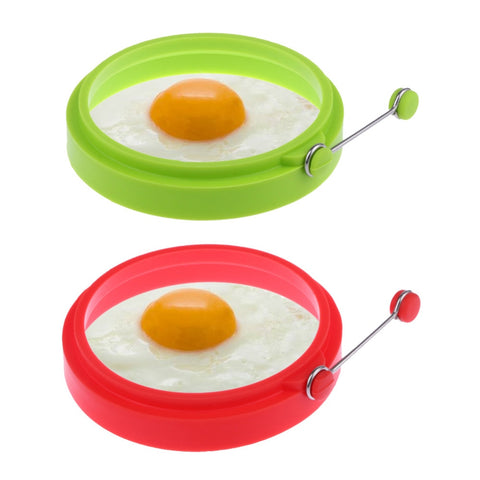 1Pc Omelette Maker Round  Nonstick Frying Egg Mold Silicone Ring Pancake Rings Mold Kitchen Gadgets