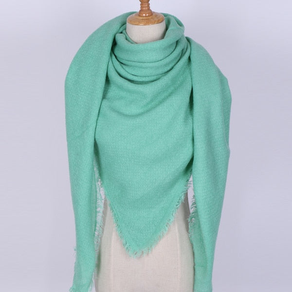 Fashion Luxury Brand Scarf Women Cashmere Solid Color