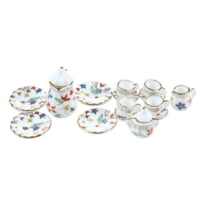 15 Piece Miniature Dollhouse Dinnerware