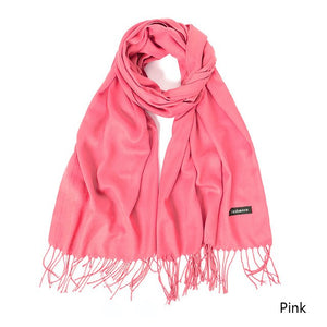 Winter Scarf Women Solid Colors Neck Wear Scarves Pashmina Ladies Shawl