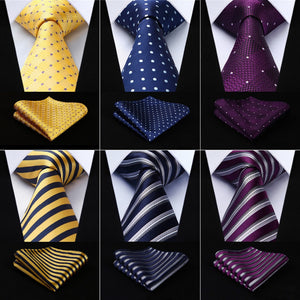 Men Tie Necktie Pocket Square Classic