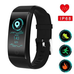 Heart Rate Monitor Waterproof IP68 Swimming Running Sport Watch For Android IOS