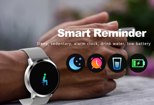Fitness Smart Watch Men Women OLED Screen Heart Rate Monitor Blood Pressure