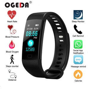 2019 Smart Watch Women Men Sport Fitness Intelligent Wristband Heart Rate Blood Pressure