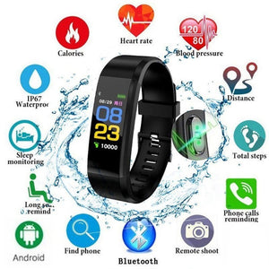 Heart Rate Monitor Blood Pressure Fitness Tracker Smartwatch