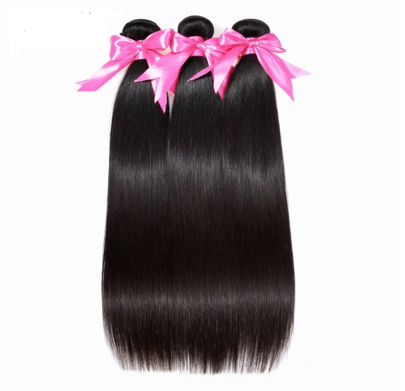 Peruvian Straight Hair Extension Human Hair Bundles 100% Remy Hair Weaves No Tangle Nature Color