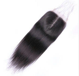 "Peruvian Straight Hair Closure 4""*4"" Middle Part 100% Remy Human Hair Medium Brown Swiss Lace Closure"