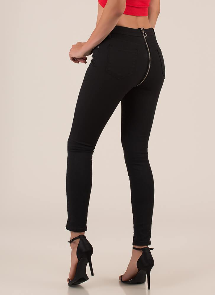 Black Zipper Jean