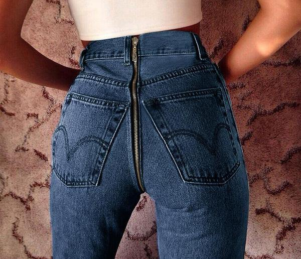 Blue Zipper Jean