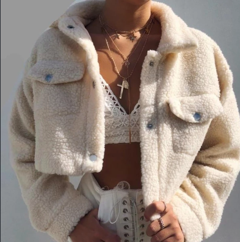 Polar Faux Fur Crop Jacket