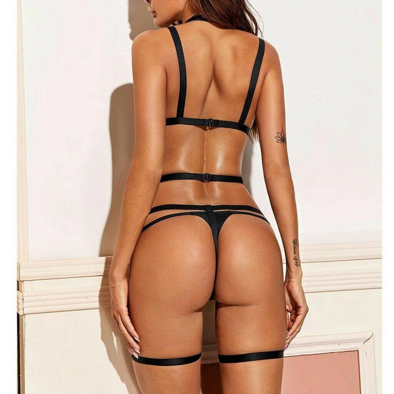 Jeanie Three-Piece Lingerie Set