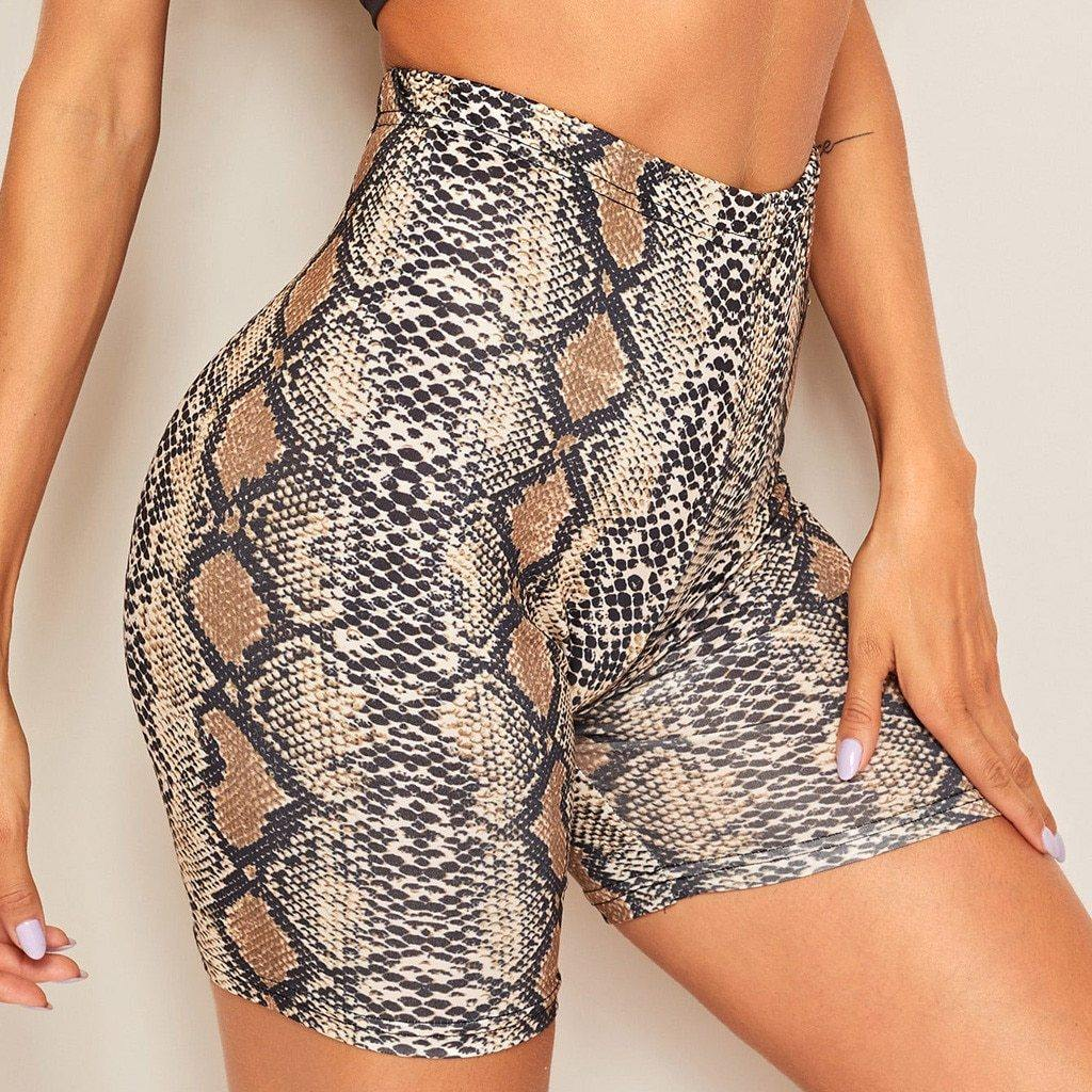 Snakeskin Cycling shorts
