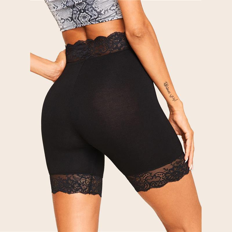 Lace Trim Legging Shorts