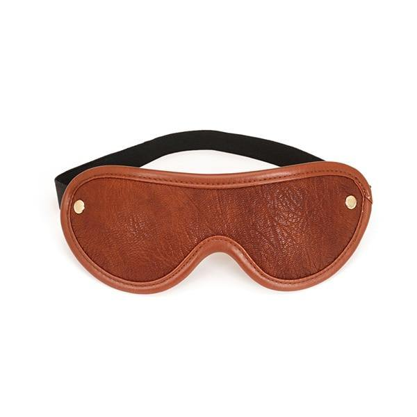 Brown Leather Blindfold