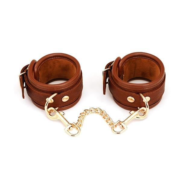 Brown Leather Handcuffs