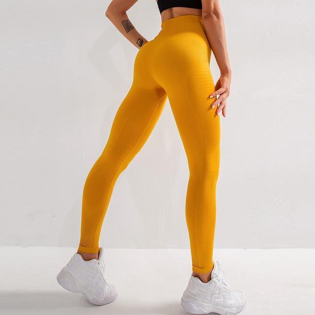 High-Waist Airbrush Leggings - VAVANA