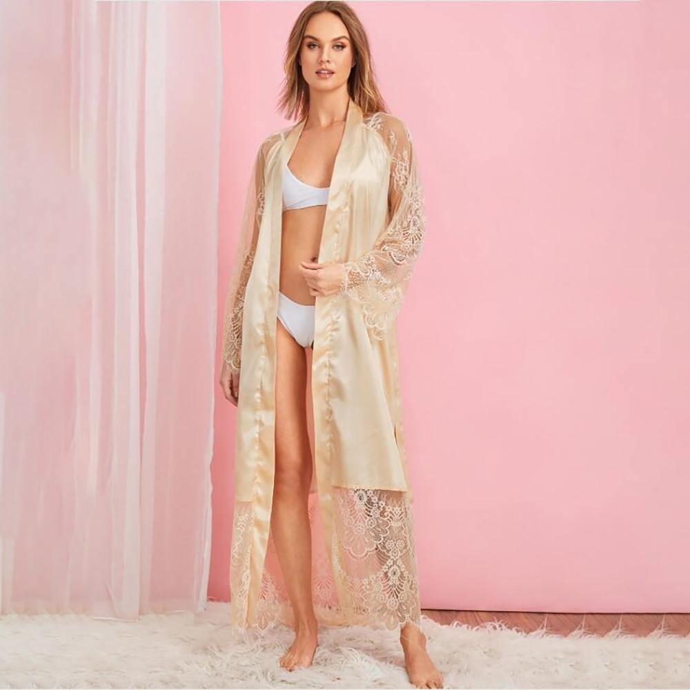 Goddess Satin Lace Robe