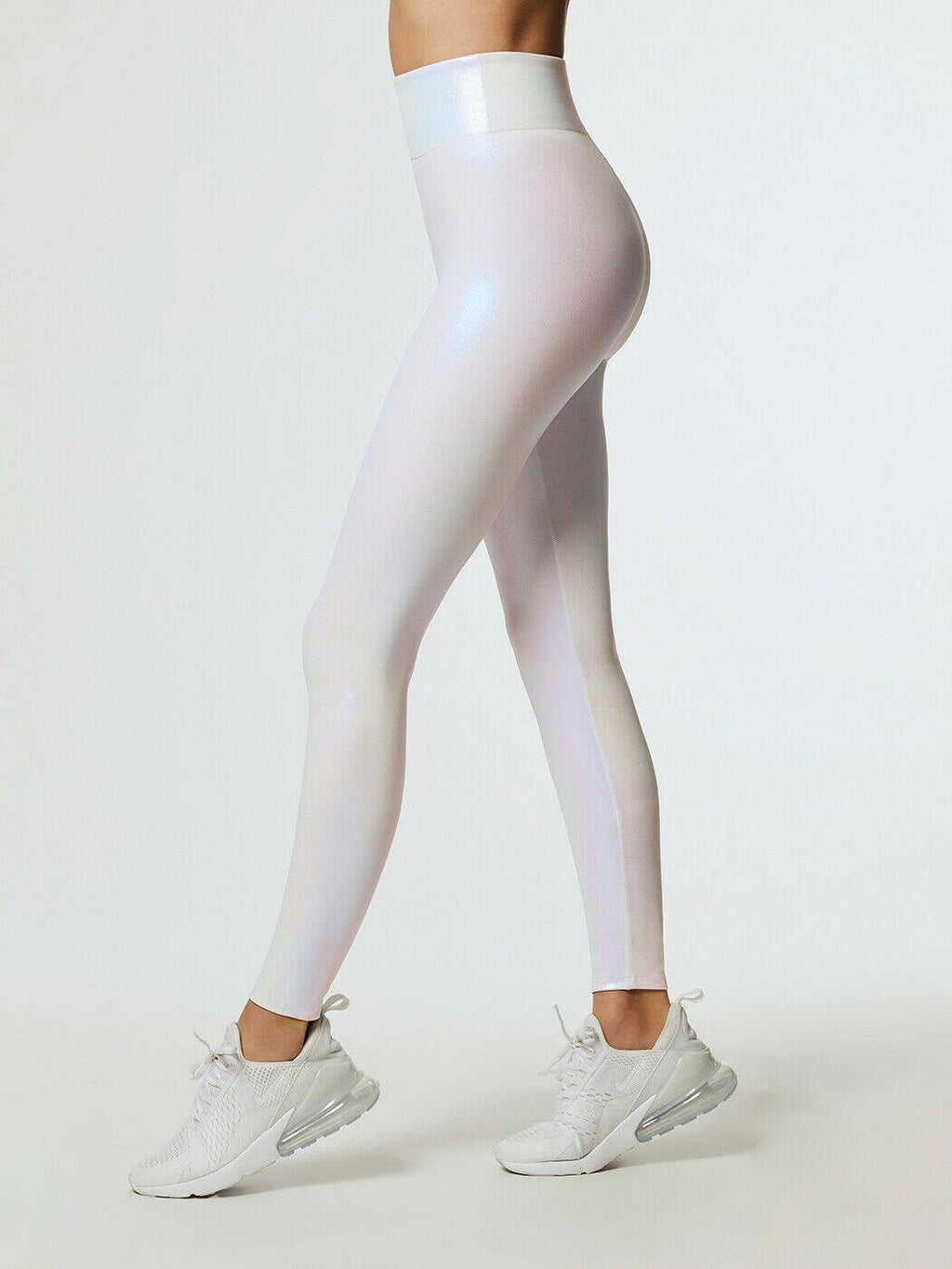 White Iridescent Leggings