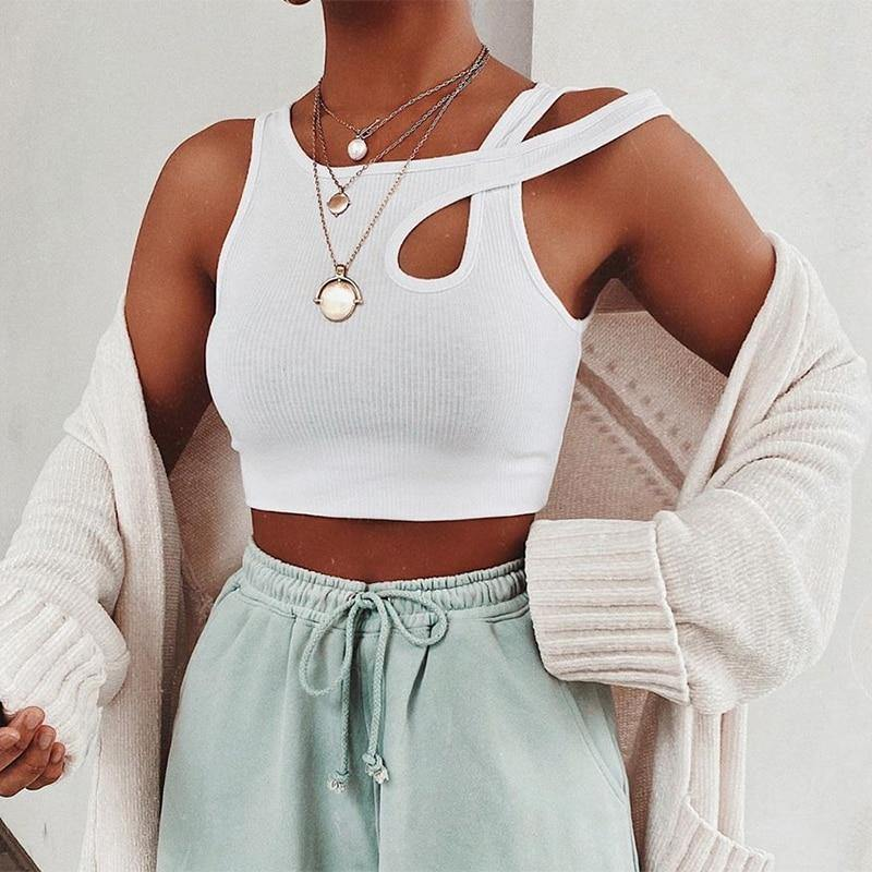 Asymmetrical Tank Top - VAVANA
