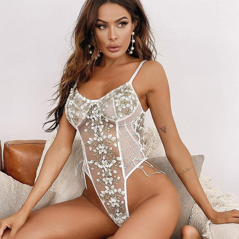 Mila Embroidered Bodysuit
