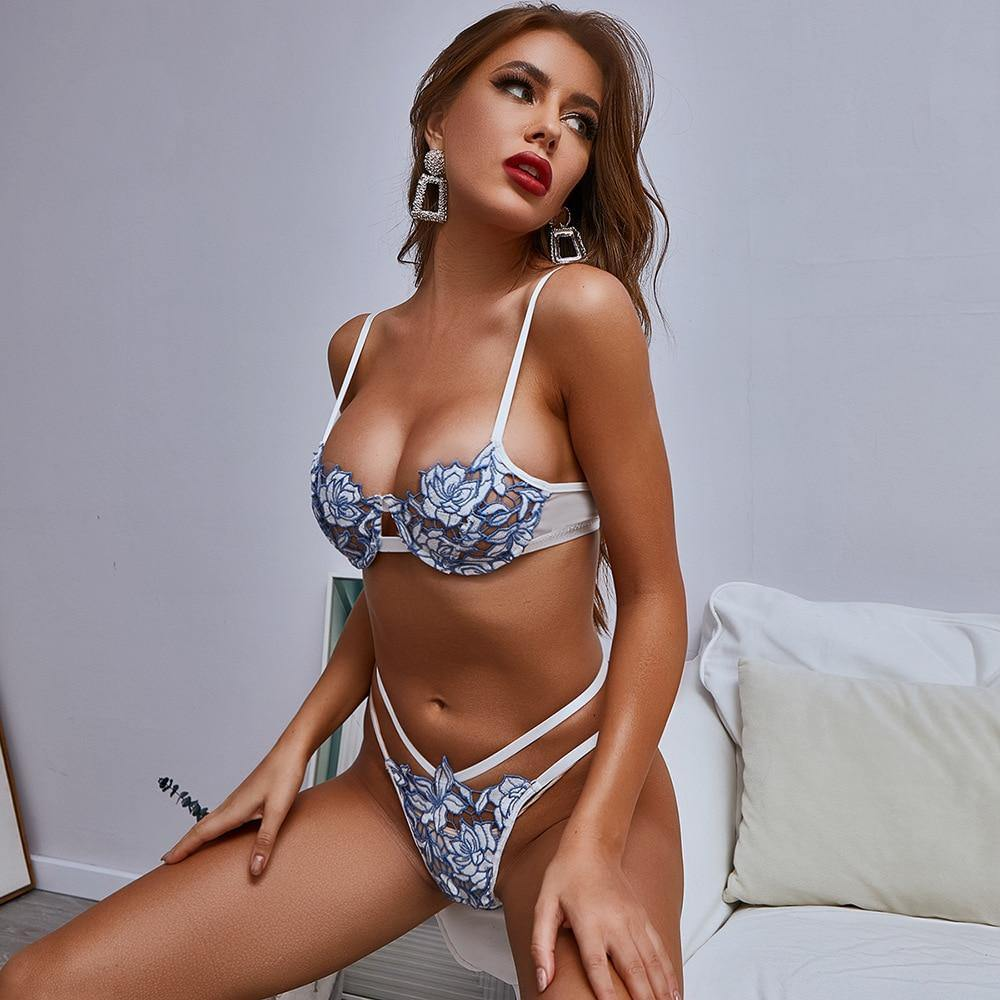 Blue Lotus Lingerie Set