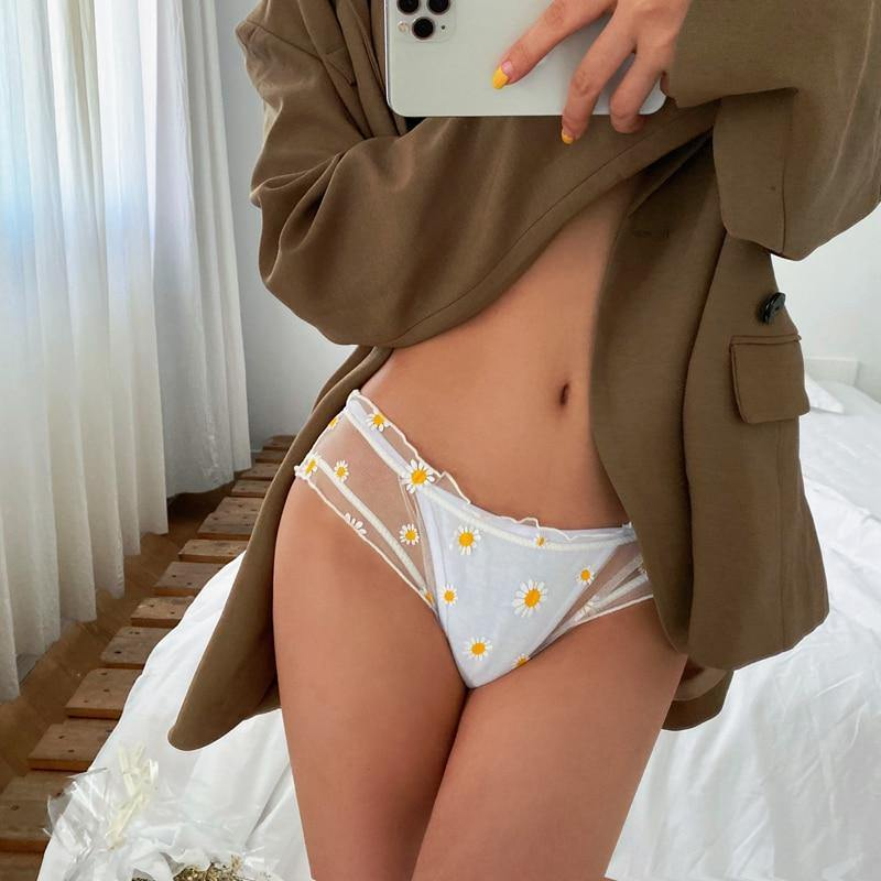 Daisy Embroidered Briefs