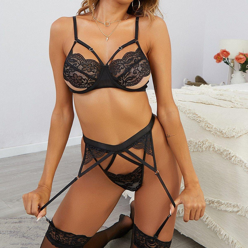 Black Goddess Lingerie Set
