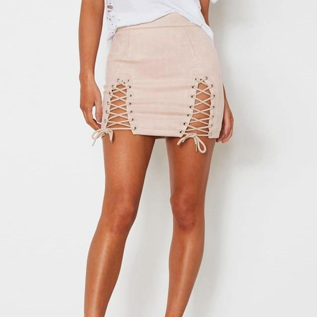 Ani Lace-Up Skirt